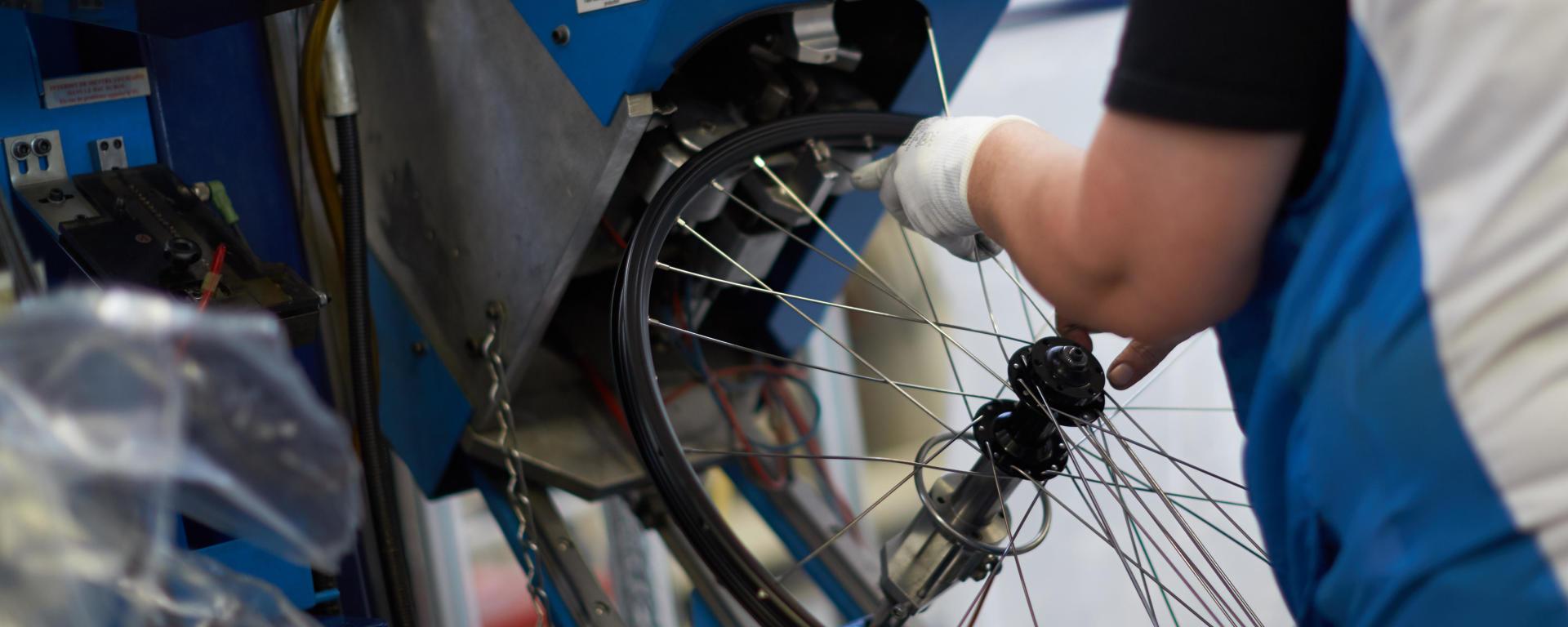 Production roue de vélo