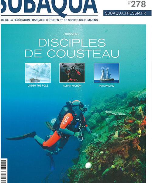 page couverture magazine subaqua