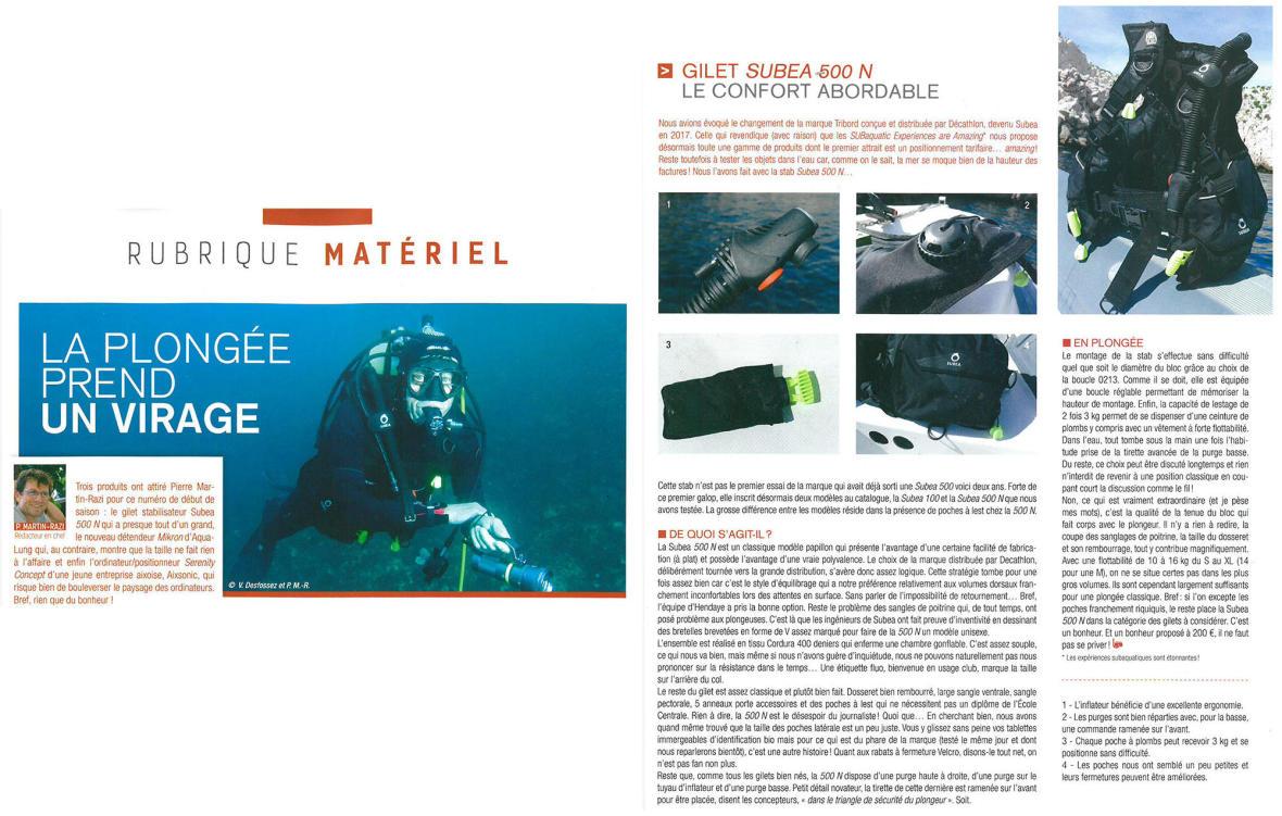 gilet stabilisateur subea article subaqua