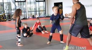 Eu, treinador de boxe... Para as crianças