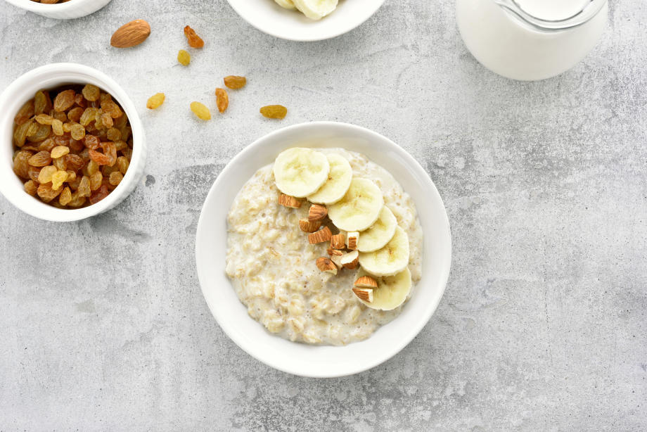 Baked banana porridge