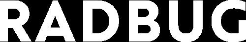 Radbug logo en blanc