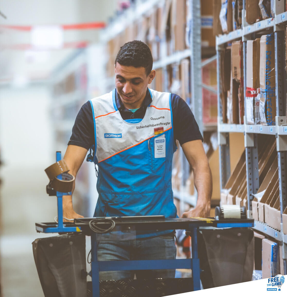 decathlon logistics product transport