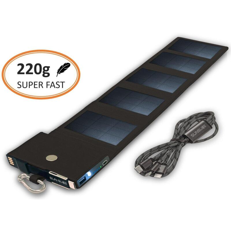 Chargeur solaire Photon   Batterie solaire puissante et ultra légère