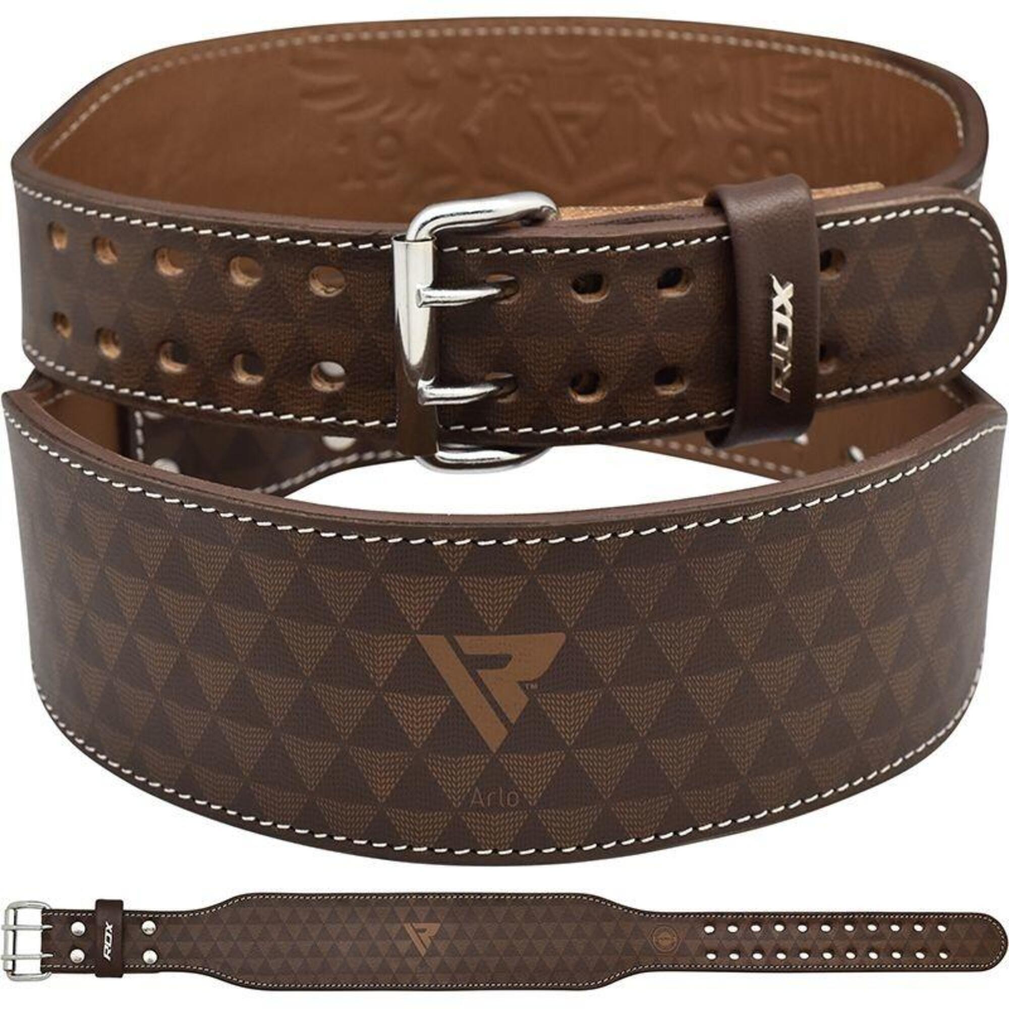 ARLO 4 Inch Medium Tan Leather Weightlifting Belt - Maat: S