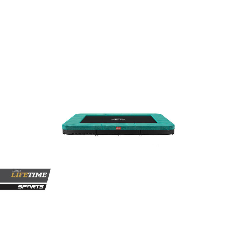 Trampoline rectangulaire Favorit InGround vert 280 cm