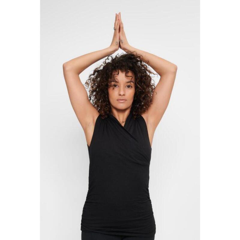 Top de yoga Good Karma - Haut de yoga élégant et bien ajusté - Urban Black