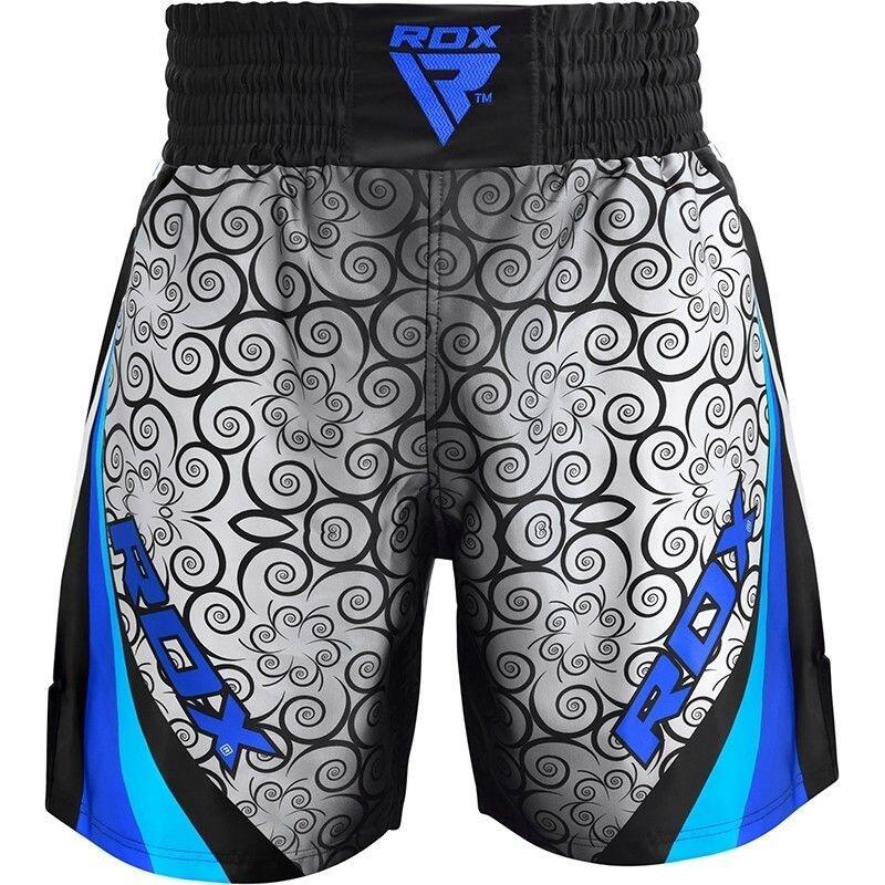 BSS Boxing Training Shorts Satin R2 - Bleu - L