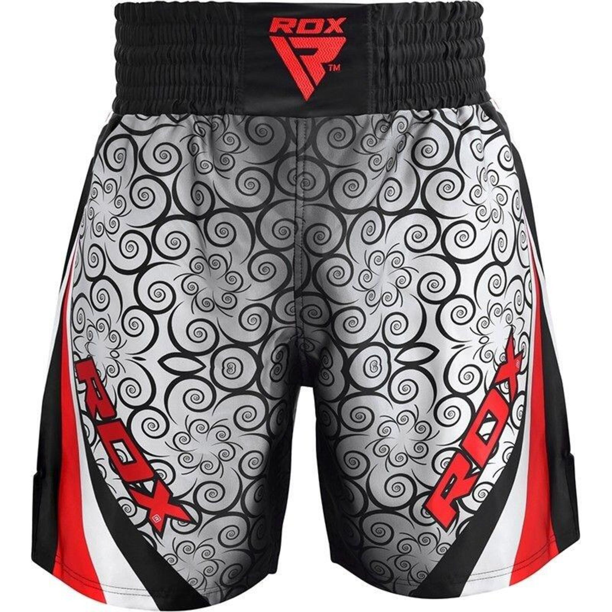 BSS Boxing Training Shorts Satin R1 - Rouge - M