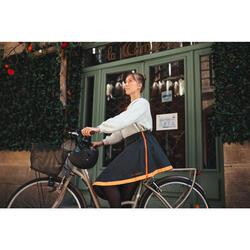 Sur-jupe vélo mi-saison Clara noir - femme