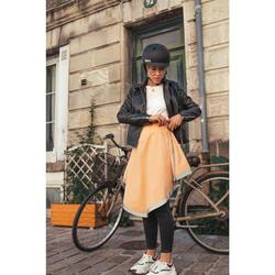 Sur-jupe vélo mi-saison Clara apricot - femme