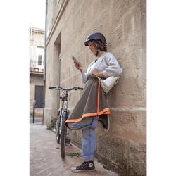 Sur-jupe vélo mi-saison Clara Khaki - Femme