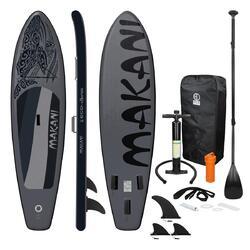 Stand Up Paddle Board Surfboard Makani Preto 320 x 82 x 15 cm