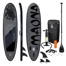 Prancha de surf de stand up paddle Prancha de surf preta Maona 308 x 76 x 10 cm