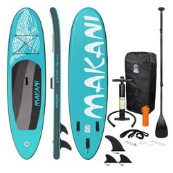 Stand Up Paddle Board Surfboard Turquoise Makani 320 x 82 x 15 cm
