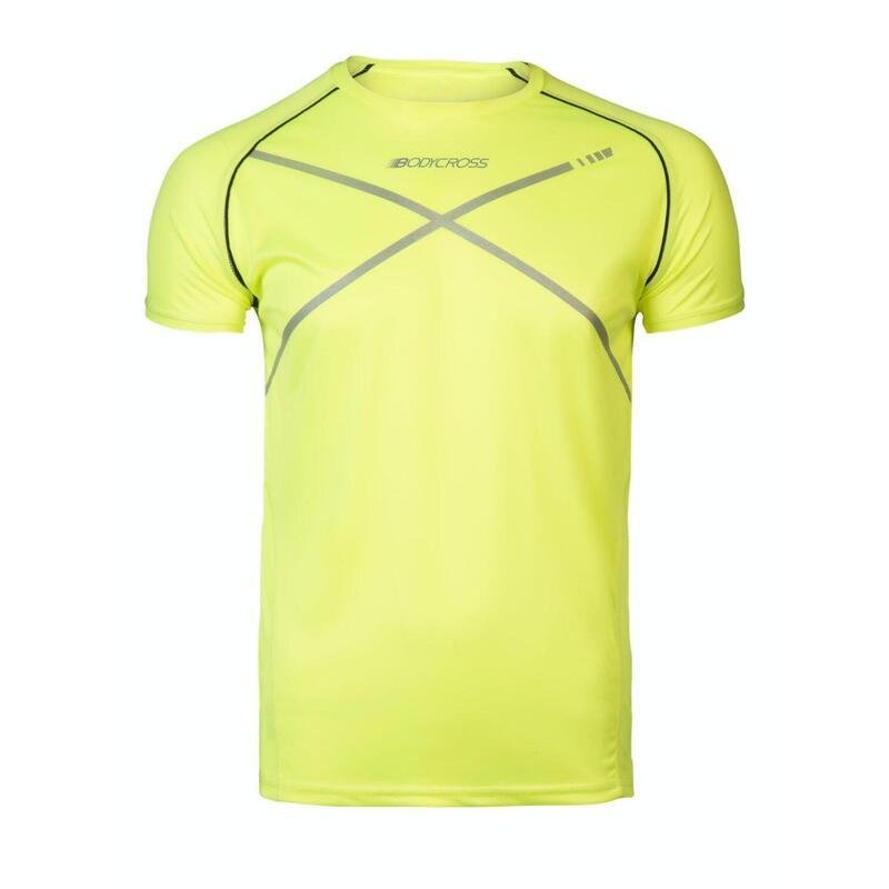 Maden loopt t-shirt neon gele