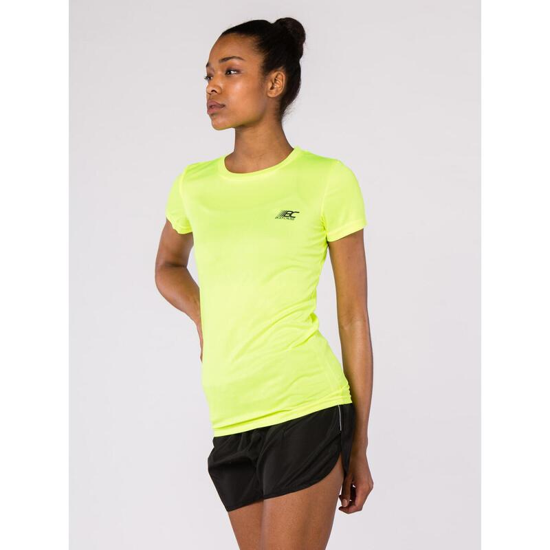T-shirt Running Paz2 Jaune Fluo
