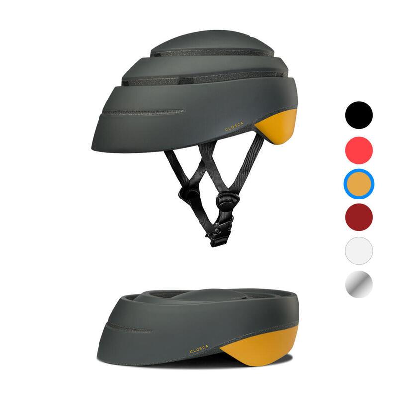 Casque de cycliste pour adultes, pliable (Closca Helmet LOOP) Graphite-Moutarde