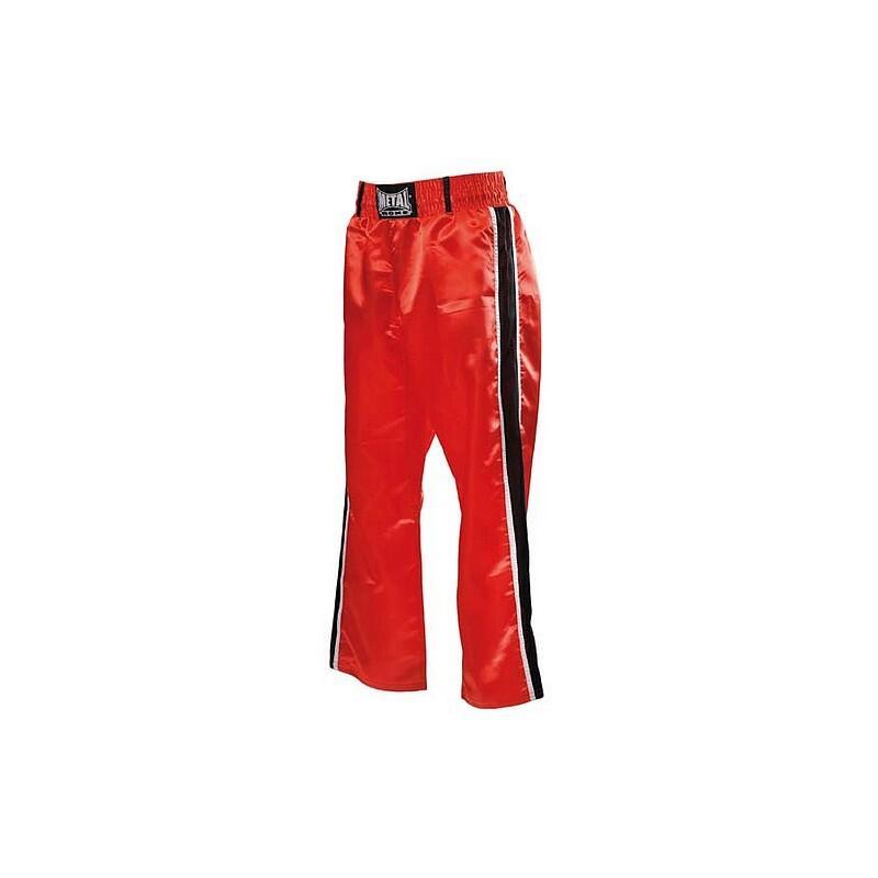 Pantalon de Full Contact Rouge 2 bandes noir/blanc METAL BOXE