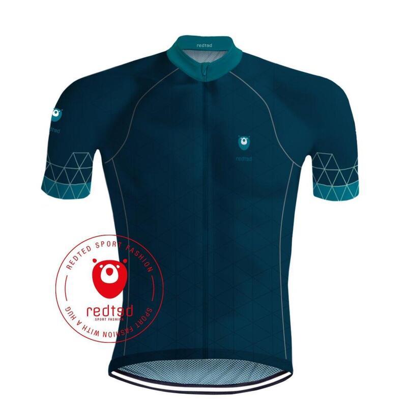 Maillot Cyclisme Viking Bleu de mer - REDTED