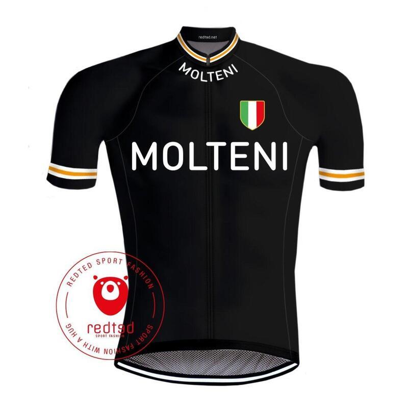 Maillot Cyclisme Rétro Molteni - REDTED - Noir