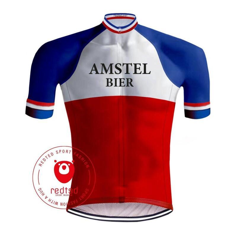 MAILLOT CYCLISME VINTAGE AMSTEL BIER - REDTED