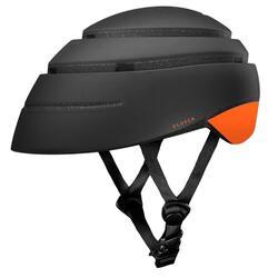 Opvouwbare fietshelm voor volwassenen. Zwart-Orange