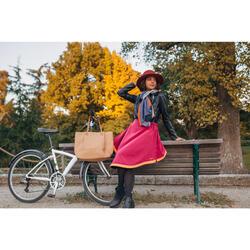Sur-jupe vélo hiver Holly bordeaux - femme