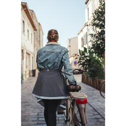 Sur-jupe vélo hiver Holly carbone - femme