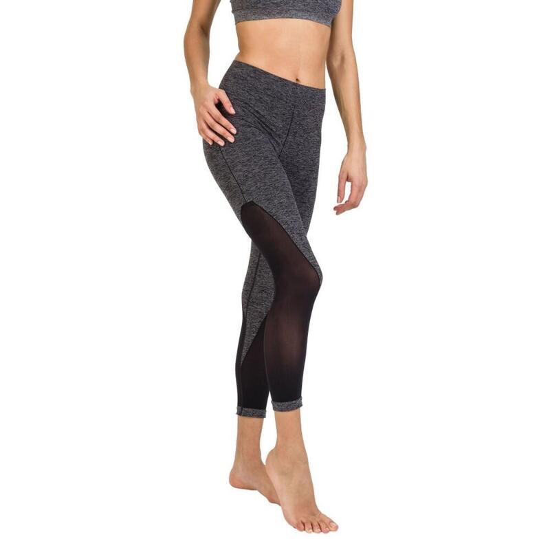 Legging fitness 7/8 noir & gris Cellutex