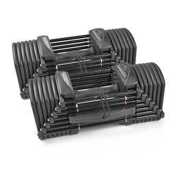 Paire d'Haltères Ajustables PBPRO32 pour Fitness et Musculation