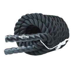 Battle rope - Zwart - Gewoven polyester
