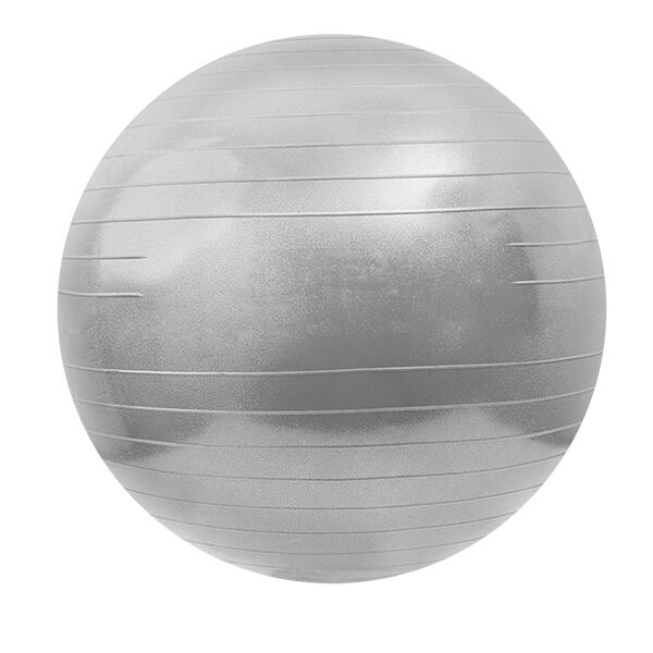 Fitness ball 75 cm argent