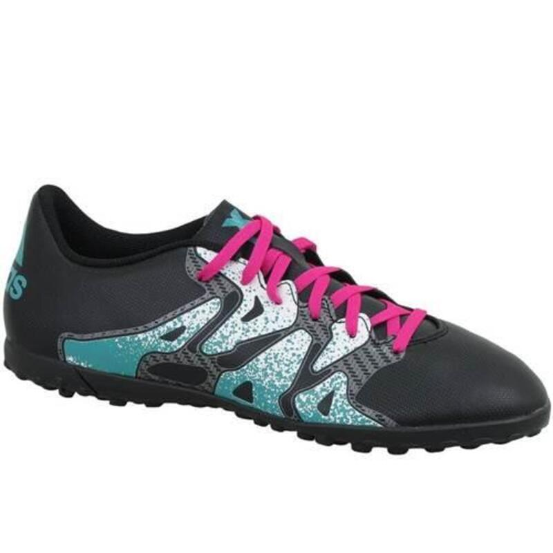 X 154 TF hommes football chaussures Noir,Turquoise