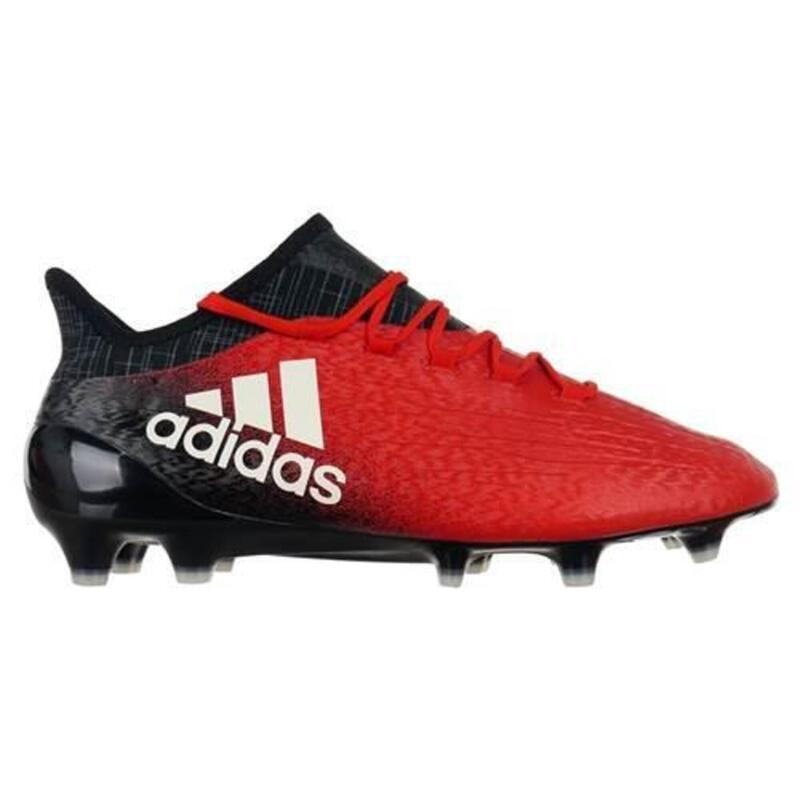 X 161 FG Techfit hommes football chaussures Noir,Rouge