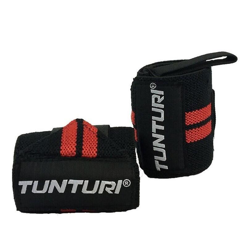 Tunturi Wrist Wraps - Zwart/Rood