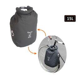 Veilige tas met geïntegreerd antidiefstalapparaat:waterdicht, snijbestendig, 15L