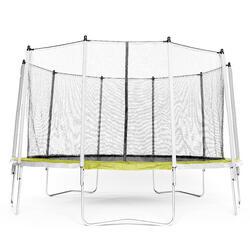 Tweedehands Trampoline Essential 420 groen + veiligheidsnet