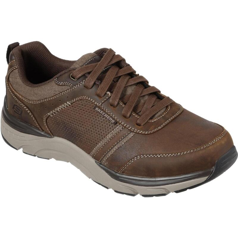Heren Sentinal Lunder Leather Trainer (Donkerbruin)