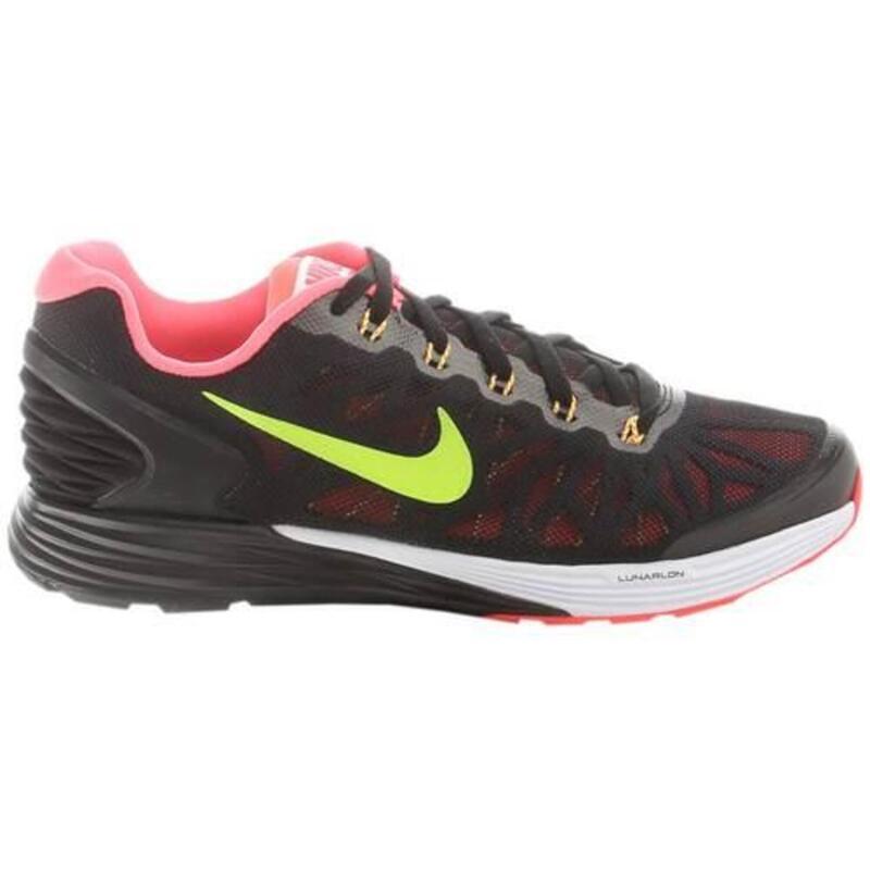 Lunarglide 6 GS enfants running chaussures Noir,Vert clair