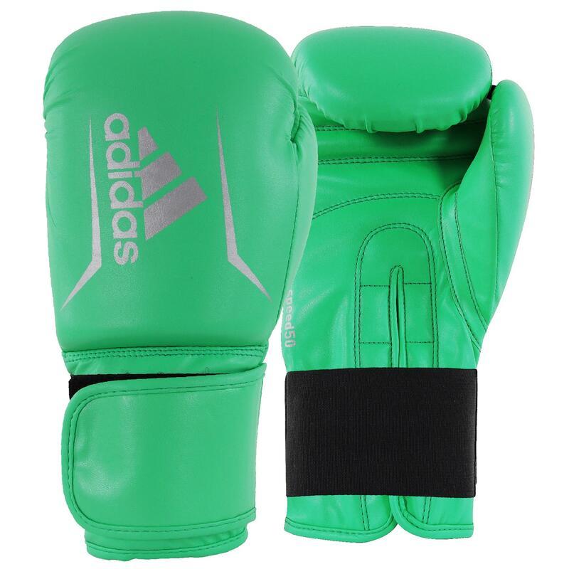 Gants de boxe Adidas Speed 50 (Kick) - Lime / Argent - 16 oz