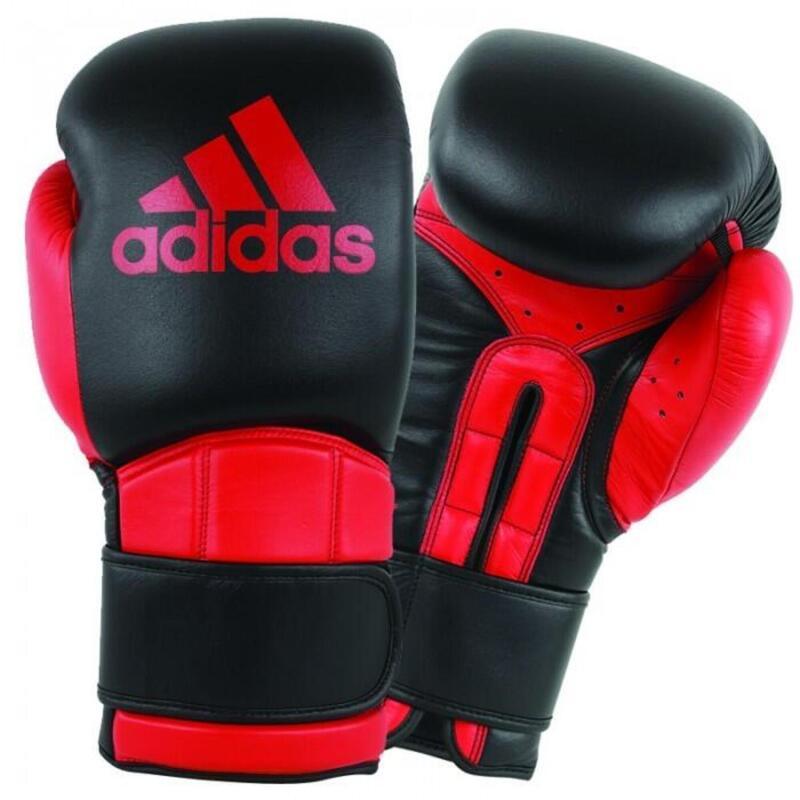 Adidas Safety Sparring Bokshandschoenen Velcro Zwart-Rood - 14 oz