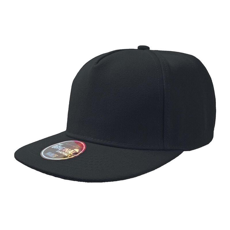 Lot de 2 casquettes visière plate Adulte (Noir)
