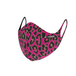 Wasbare barrièremaskers covid-19 voor dames Superior Animalier Fuchsia
