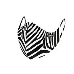 Wasbare barrièremaskers covid-19 voor dames Superior Zebra zwart