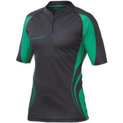 Heren Tight Fit Curve Premium Match Sport Shirt (Zwart / Smaragdgroen)