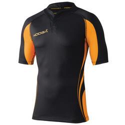 Heren Tight Fit Curve Premium Match Sport Shirt (Zwart / Goud)