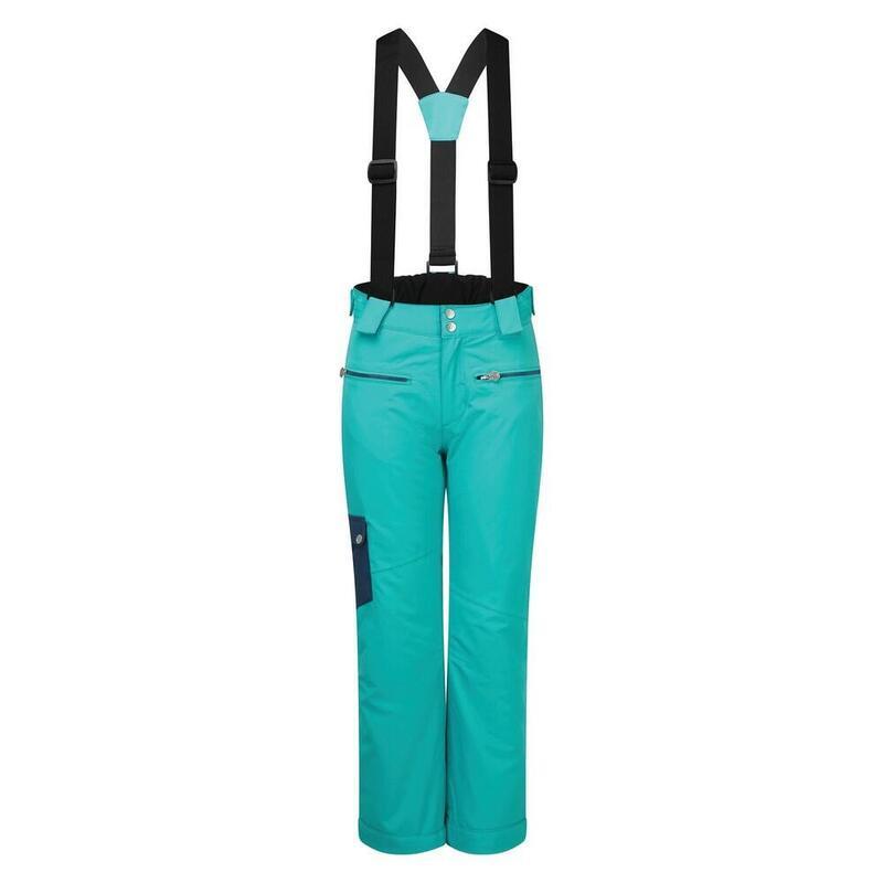 Childrens/Kids Timeout II Ski Trousers (Turquoise/Dark Denim)