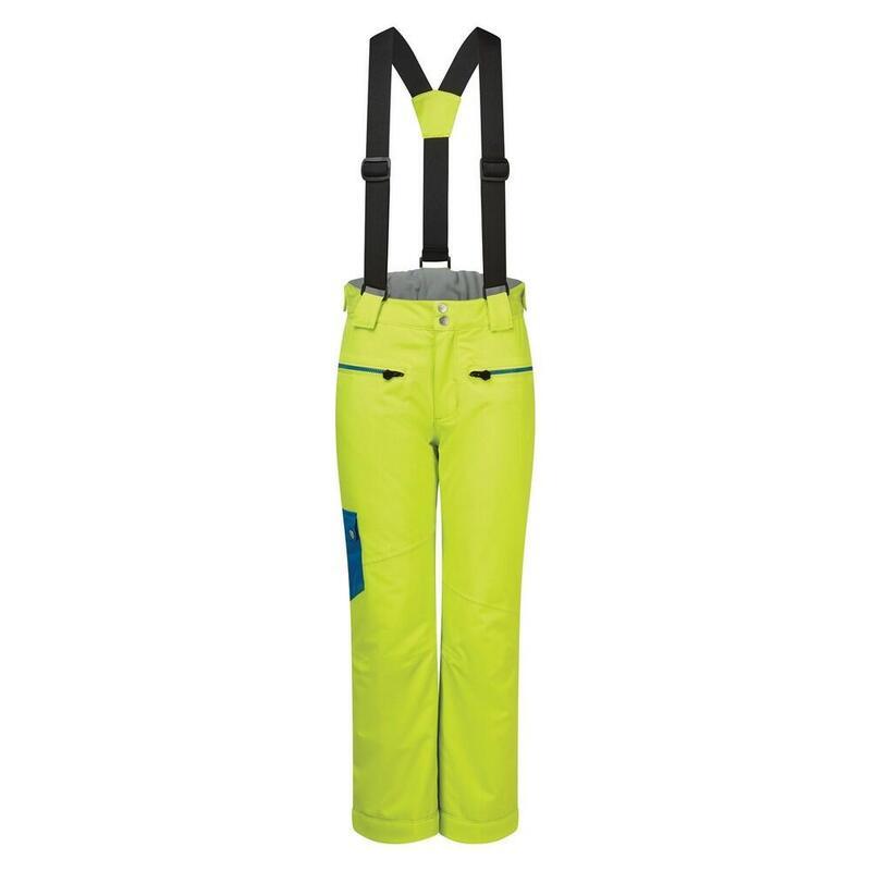 Childrens/Kids Timeout II Ski Trousers (Lime Punch/Petrol Blue)