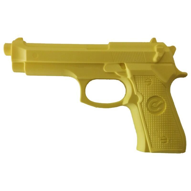 Pistolet en caoutchouc rigide noire ou jaune